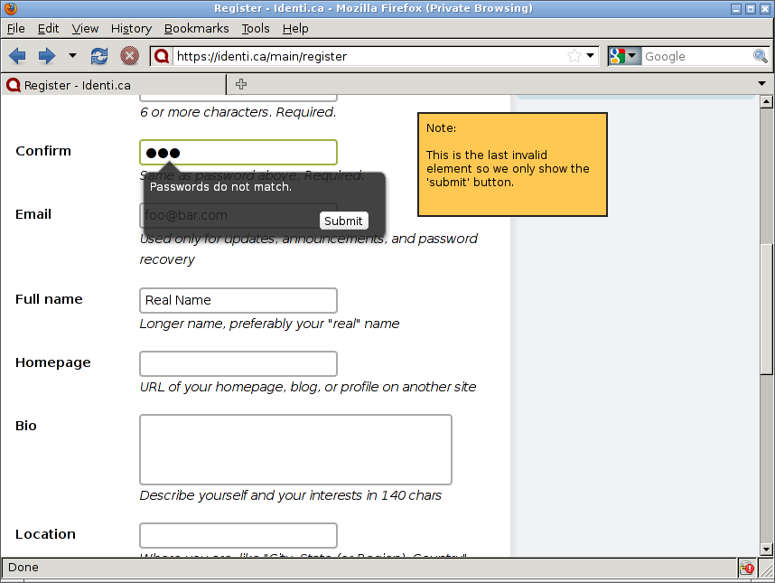 561636 � When an invalid form is submitted, error messages should ...